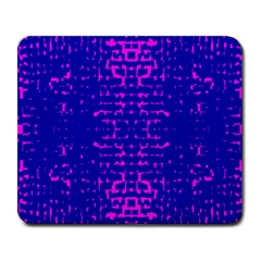 Blue And Pink Pixel Pattern Large Mousepads