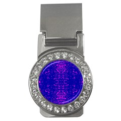 Blue And Pink Pixel Pattern Money Clips (cz)