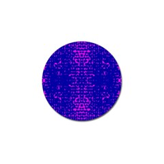 Blue And Pink Pixel Pattern Golf Ball Marker