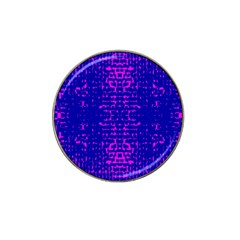 Blue And Pink Pixel Pattern Hat Clip Ball Marker
