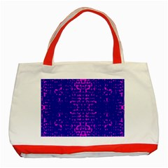 Blue And Pink Pixel Pattern Classic Tote Bag (red)