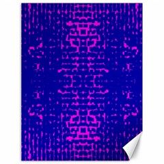 Blue And Pink Pixel Pattern Canvas 18  X 24