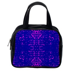 Blue And Pink Pixel Pattern Classic Handbags (one Side)