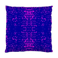 Blue And Pink Pixel Pattern Standard Cushion Case (one Side)