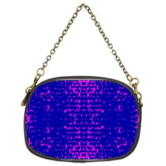 Blue And Pink Pixel Pattern Chain Purses (Two Sides)