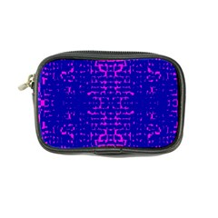 Blue And Pink Pixel Pattern Coin Purse