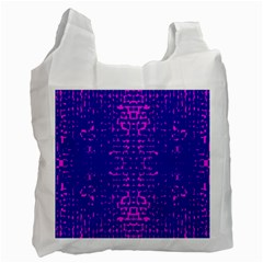 Blue And Pink Pixel Pattern Recycle Bag (two Side)