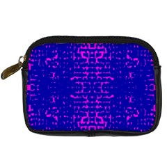 Blue And Pink Pixel Pattern Digital Camera Cases