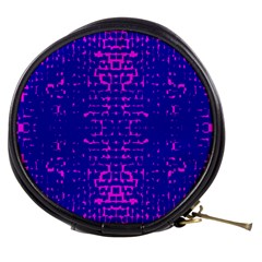 Blue And Pink Pixel Pattern Mini Makeup Bags
