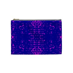 Blue And Pink Pixel Pattern Cosmetic Bag (Medium)