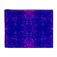 Blue And Pink Pixel Pattern Cosmetic Bag (xl)