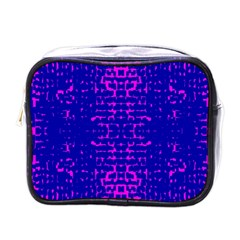 Blue And Pink Pixel Pattern Mini Toiletries Bags