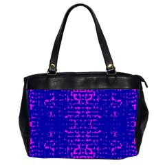 Blue And Pink Pixel Pattern Office Handbags (2 Sides)