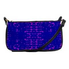 Blue And Pink Pixel Pattern Shoulder Clutch Bags