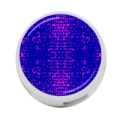 Blue And Pink Pixel Pattern 4 Port Usb Hub (one Side)