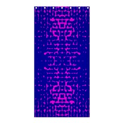 Blue And Pink Pixel Pattern Shower Curtain 36  X 72  (stall)