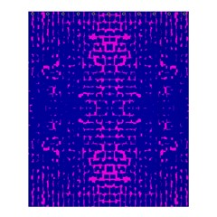 Blue And Pink Pixel Pattern Shower Curtain 60  X 72  (medium)