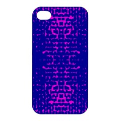 Blue And Pink Pixel Pattern Apple iPhone 4/4S Hardshell Case