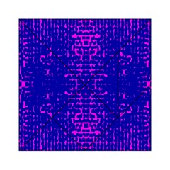 Blue And Pink Pixel Pattern Acrylic Tangram Puzzle (6  X 6 )