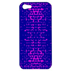 Blue And Pink Pixel Pattern Apple Iphone 5 Hardshell Case