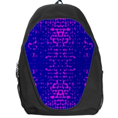 Blue And Pink Pixel Pattern Backpack Bag