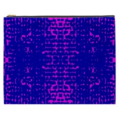 Blue And Pink Pixel Pattern Cosmetic Bag (xxxl)