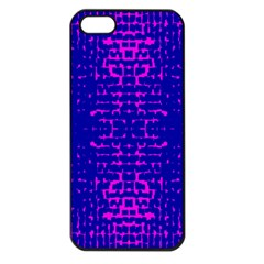 Blue And Pink Pixel Pattern Apple Iphone 5 Seamless Case (black)