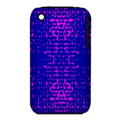 Blue And Pink Pixel Pattern Iphone 3s/3gs