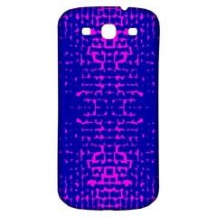 Blue And Pink Pixel Pattern Samsung Galaxy S3 S Iii Classic Hardshell Back Case