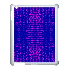 Blue And Pink Pixel Pattern Apple Ipad 3/4 Case (white)