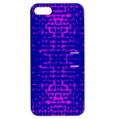 Blue And Pink Pixel Pattern Apple Iphone 5 Hardshell Case With Stand