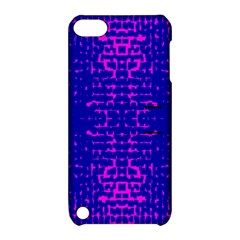 Blue And Pink Pixel Pattern Apple Ipod Touch 5 Hardshell Case With Stand