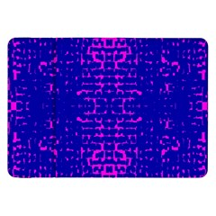 Blue And Pink Pixel Pattern Samsung Galaxy Tab 8 9  P7300 Flip Case