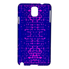 Blue And Pink Pixel Pattern Samsung Galaxy Note 3 N9005 Hardshell Case