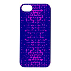 Blue And Pink Pixel Pattern Apple iPhone 5S/ SE Hardshell Case