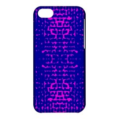 Blue And Pink Pixel Pattern Apple Iphone 5c Hardshell Case