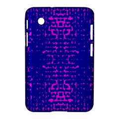 Blue And Pink Pixel Pattern Samsung Galaxy Tab 2 (7 ) P3100 Hardshell Case