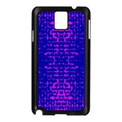Blue And Pink Pixel Pattern Samsung Galaxy Note 3 N9005 Case (black)