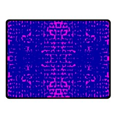 Blue And Pink Pixel Pattern Double Sided Fleece Blanket (small)