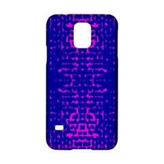 Blue And Pink Pixel Pattern Samsung Galaxy S5 Hardshell Case
