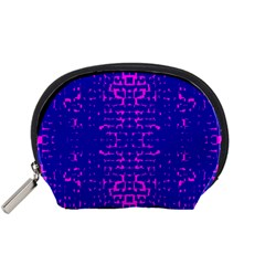 Blue And Pink Pixel Pattern Accessory Pouches (small)