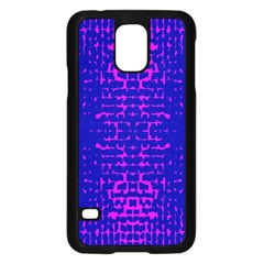Blue And Pink Pixel Pattern Samsung Galaxy S5 Case (black)