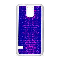 Blue And Pink Pixel Pattern Samsung Galaxy S5 Case (white)