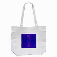 Blue And Pink Pixel Pattern Tote Bag (white)