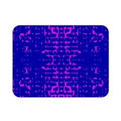 Blue And Pink Pixel Pattern Double Sided Flano Blanket (Mini)