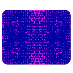 Blue And Pink Pixel Pattern Double Sided Flano Blanket (medium)