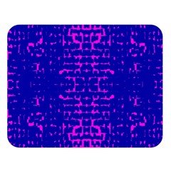 Blue And Pink Pixel Pattern Double Sided Flano Blanket (large)