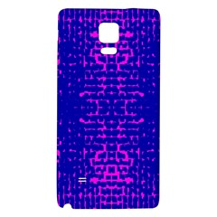 Blue And Pink Pixel Pattern Galaxy Note 4 Back Case