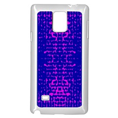 Blue And Pink Pixel Pattern Samsung Galaxy Note 4 Case (white)