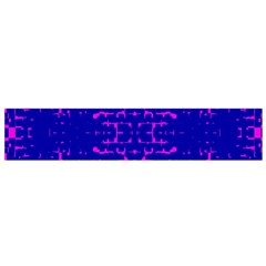 Blue And Pink Pixel Pattern Flano Scarf (small)